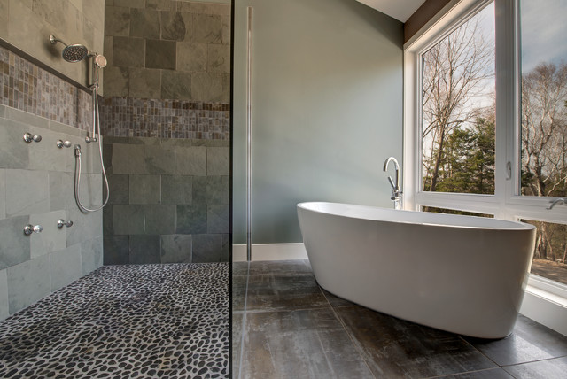 Modern Country - Contemporary - Bathroom - ottawa - by Maple Leaf Custom Homes