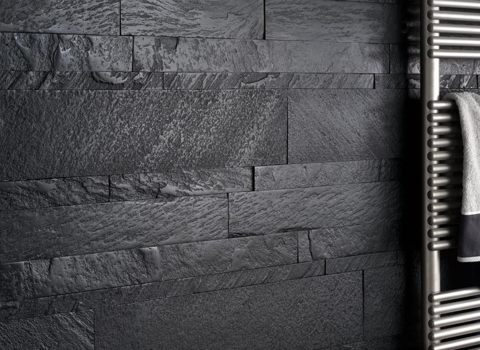 Modern Dark Grey Bathroom Wall - Modern - Bathroom - Miami - By Simple  Steps Houzz