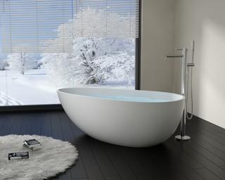 Modern Egg Shaped Stone Resin Freestanding Bathtub - BW-01-XL - Modern - Bathroom - San ...