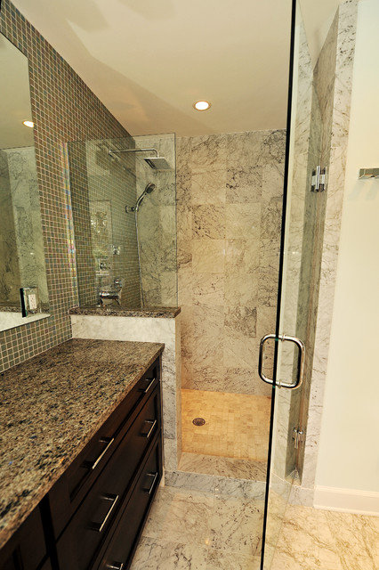 Modern escape transitional bathroom birmingham by for Bath remodel birmingham al