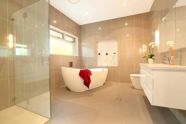 Modern Family Living Contemporary Bathroom Sydney By Inside Out Colour And Design