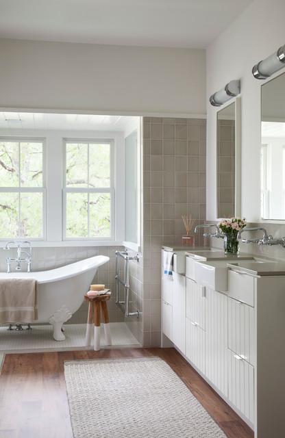 Modern Farm House - Farmhouse - Bathroom - austin - by Tim ... on Modern Farmhouse Bathroom Ideas  id=36316
