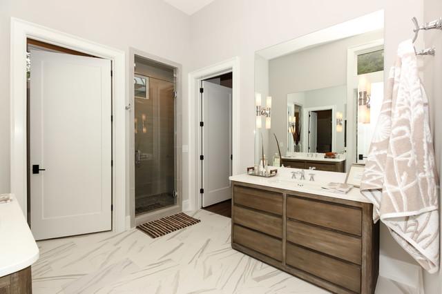 modern farmhouse  durham nc  country  bathroom