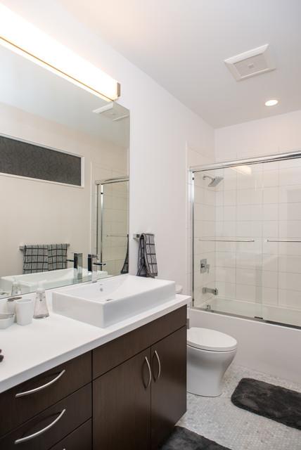 Modern Farmhouse Contemporary Bathroom Detroit By Forward Design Build