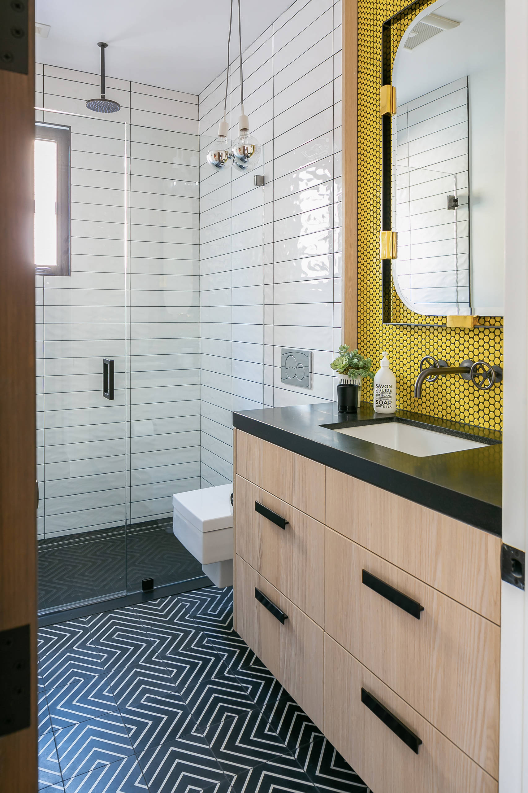 Yellow Tile Bathroom Pictures Ideas