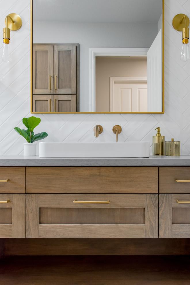 Modern Farmhouse Guest Bathroom - Modern - Bathroom ...