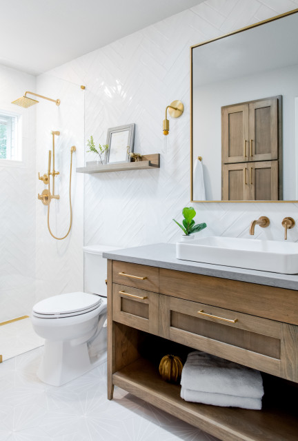 Before and After: 4 Beautiful 50-Square-Foot Bathrooms
