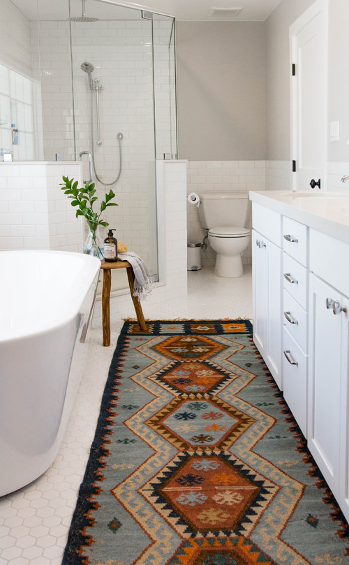 Modern bathroom rugs