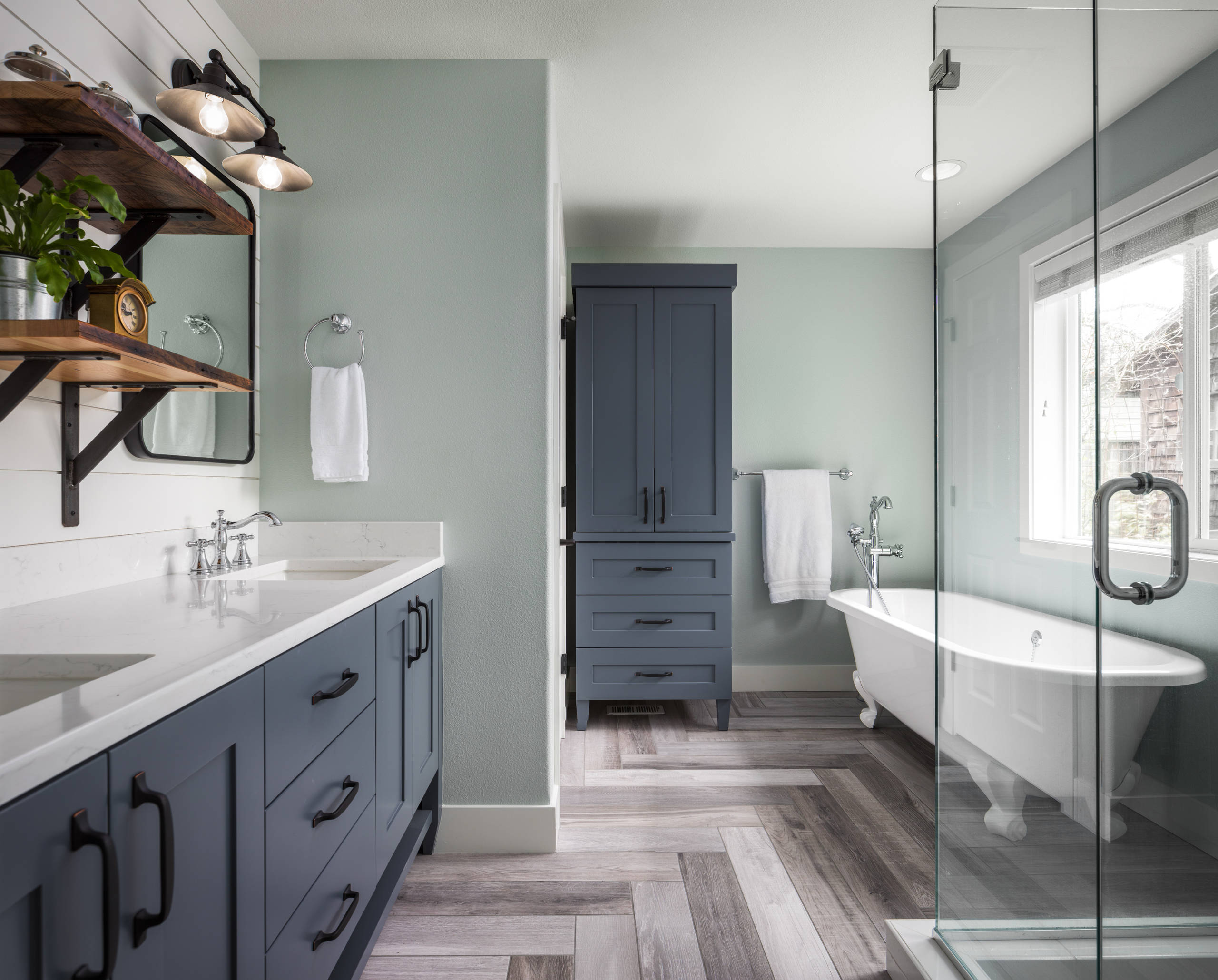75 Beautiful Bathroom With Green Walls Pictures Ideas February 2021 Houzz