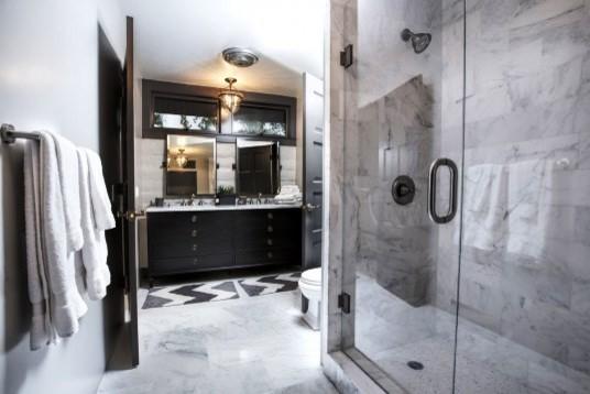 Inspiration for a rustic bathroom remodel in Santa Barbara