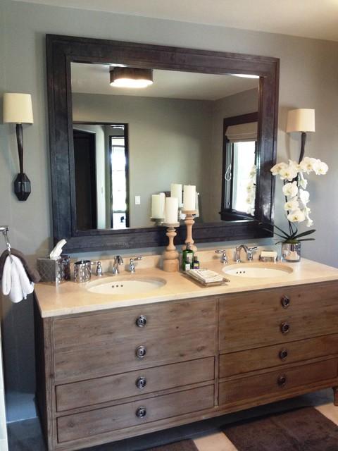 Bathroom - farmhouse bathroom idea in Santa Barbara