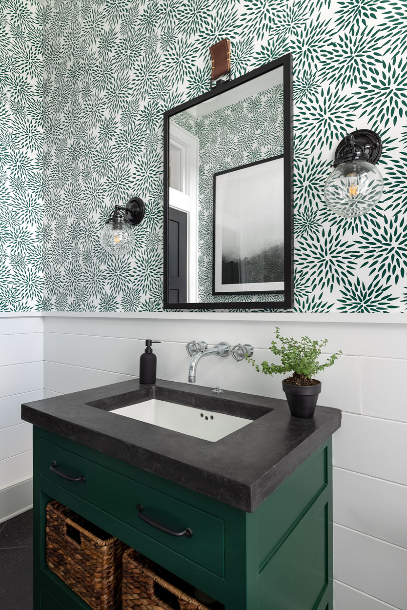 75 Beautiful Bathroom With Green Cabinets Pictures Ideas February 2021 Houzz