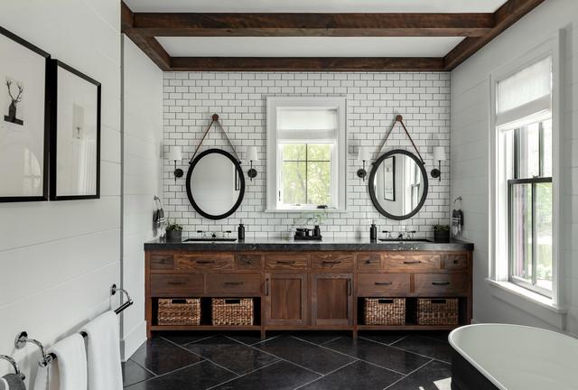 Modern Farmhouse Upstate Farmhouse Bathroom New York