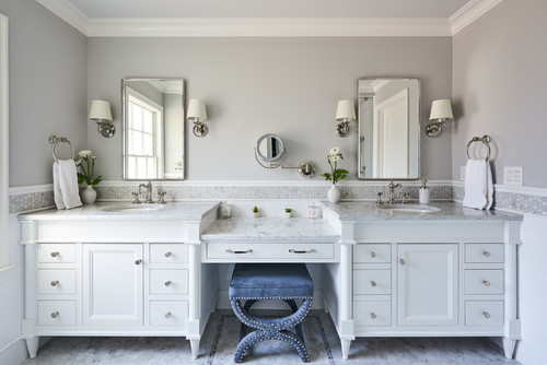 Unique Bathroom Vanity Backsplash Ideas