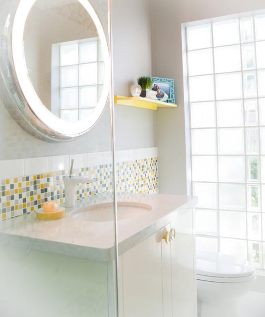 Modern Guest Bath Remodel Modern Bathroom Phoenix By Red Egg Design Group