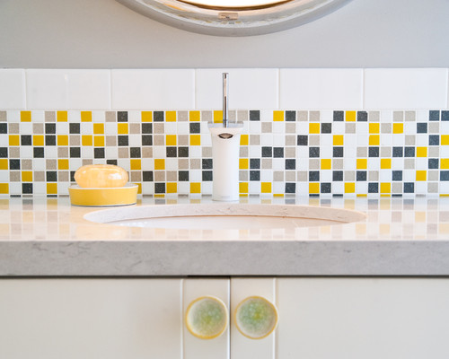 modern bathroom Color of the Month: Decorating with Yellow