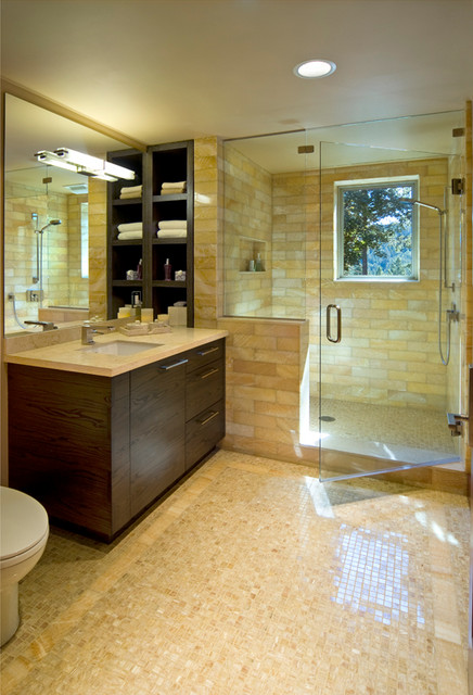 Modern Guest House contemporary-bathroom
