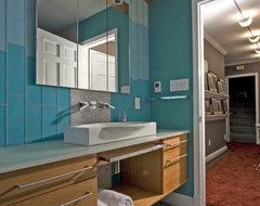 Modern Hall Bath – Upper Georgetown, DC contemporary-bathroom