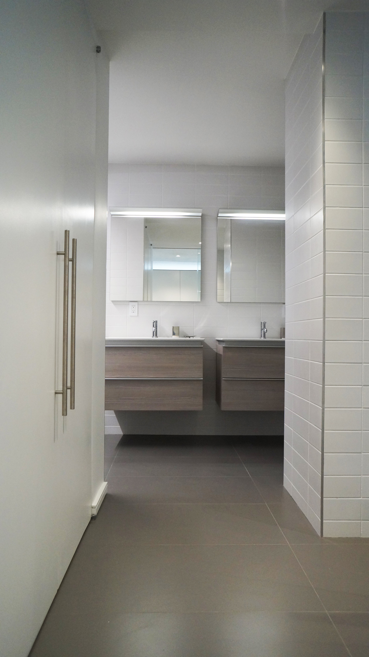 Modern His & Hers Master Bathroom