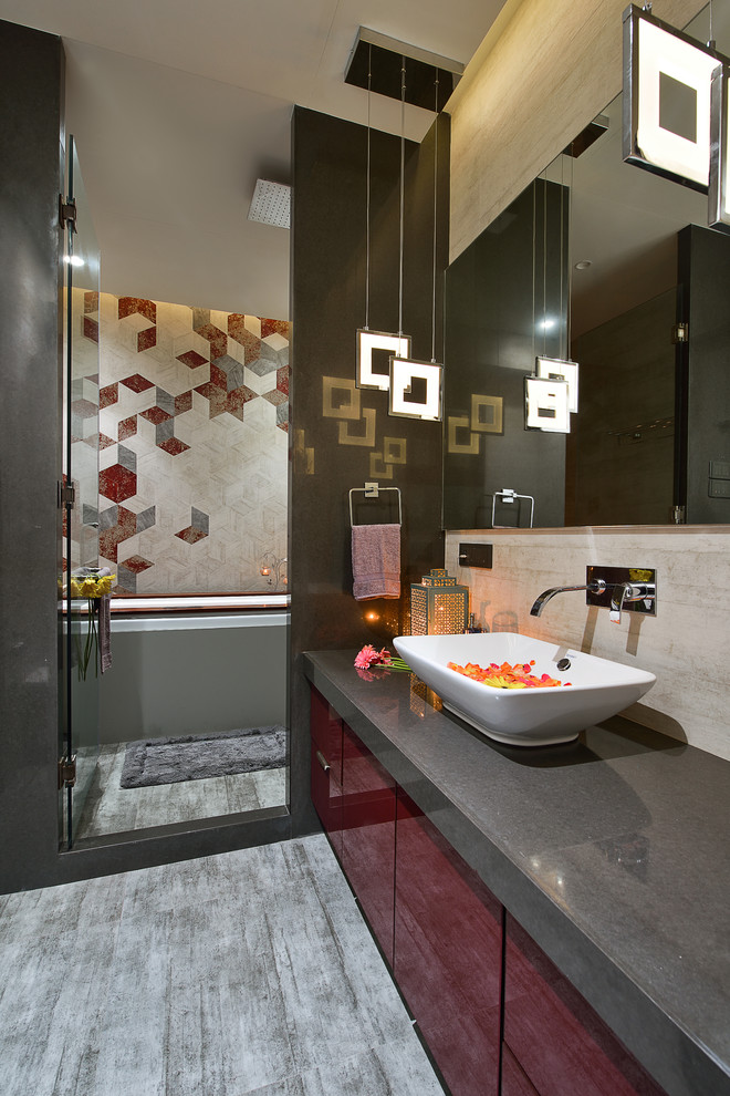 Modern Indian Apartment Contemporary Bathroom Mumbai By Fsnd