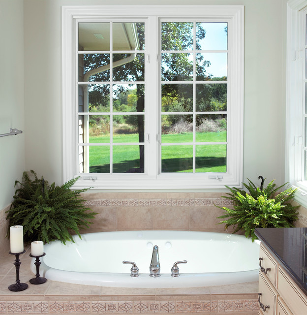 Modern Inspired Colonial traditional-bathroom