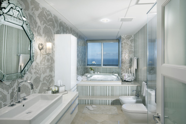 Bathroom Design Miami modern interior design at the jade beach - contemporary - bathroom