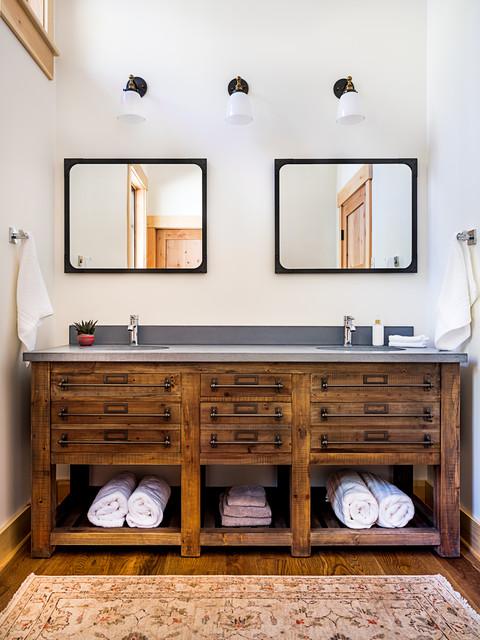 Modern Lake House Rustic Bathroom, Lake House Bathroom Images