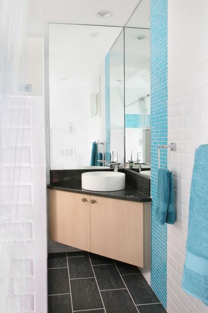 Modern Lake House Contemporary Bathroom