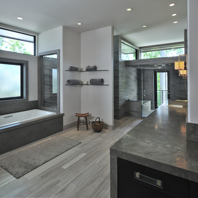 Modern living contemporary-bathroom