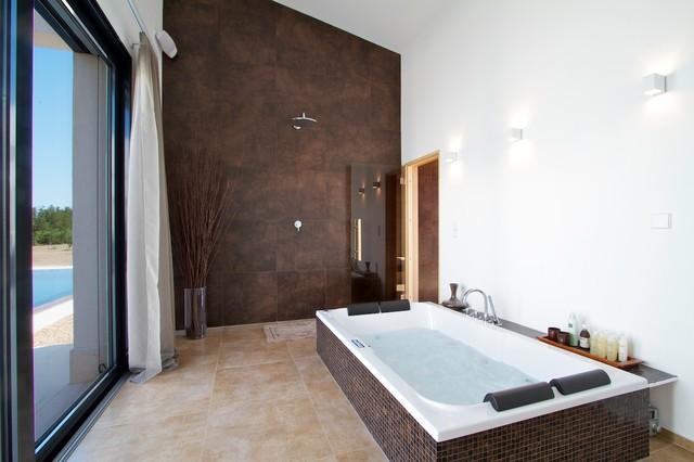 Modern Mallorcan Villa Contemporary Bathroom London
