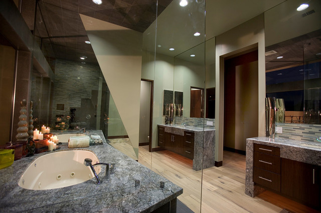 Modern Mansion Master Bathroom - Contemporary - Bathroom ...