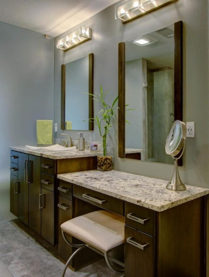 Modern Master Bath Cabinetry - Olathe, KS - Modern ...