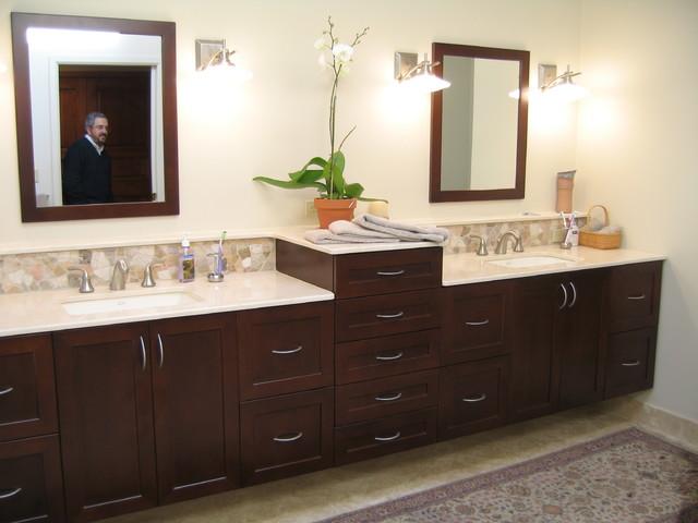 Modern Master Bath - Contemporary - Bathroom - new york - by Maggie McManus Kitchens & Baths