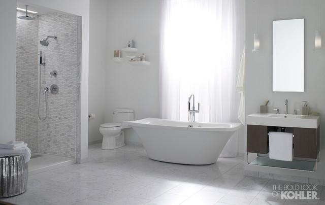Modern Minimalist Bathroom Transitional Bathroom