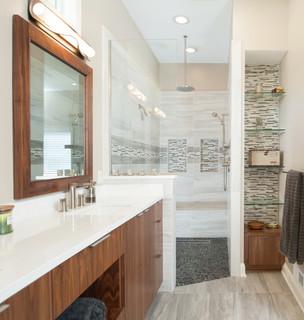 Modern Minimalist Contemporary Bathroom Kansas City By Profile Cabinet
