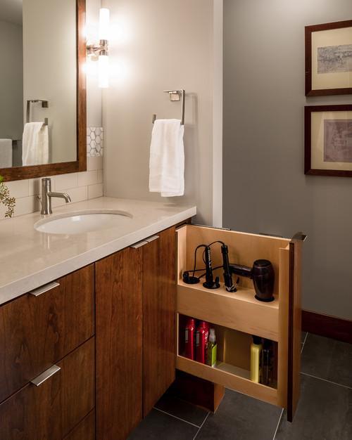 contemporary bathroom organization houzz