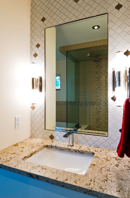 Modern Mountain Duplex Rustic Bathroom Calgary By Sticks And Stones Design Group Inc