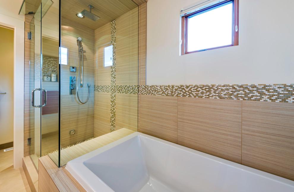 Modern Mountain Duplex - Rustic - Bathroom - Calgary - by ...