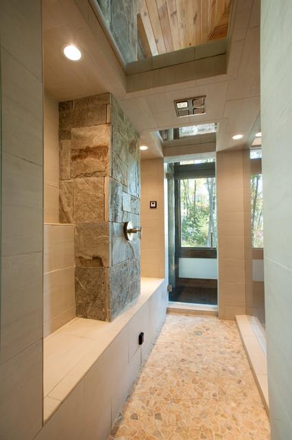 Modern Mountain Home rustic-bathroom