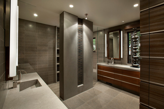 Modern Mountain Lake Tahoe Contemporary Bathroom