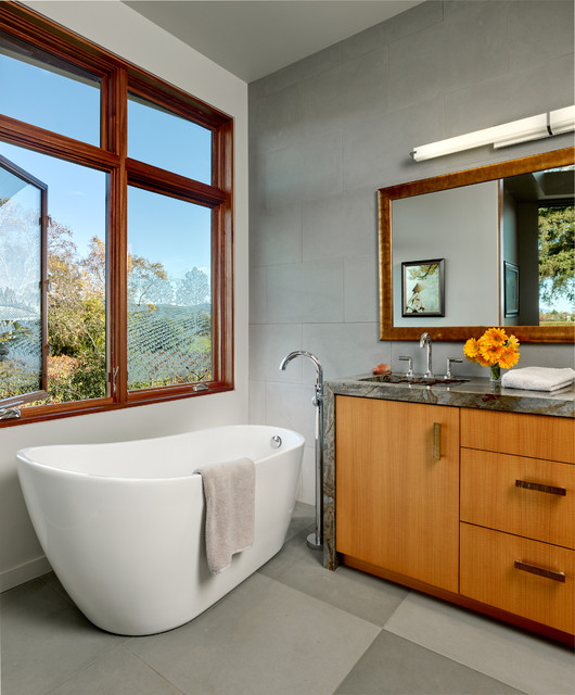 Modern napa contemporary bathroom san francisco by for Bath remodel napa ca