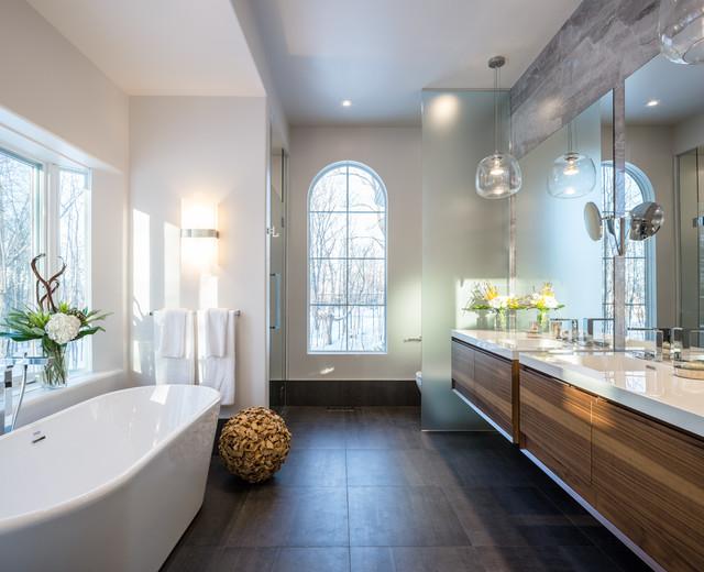 Modern Nature Master Bath Astro Design Centre Ottawa Canada Contemporain Salle De Bain