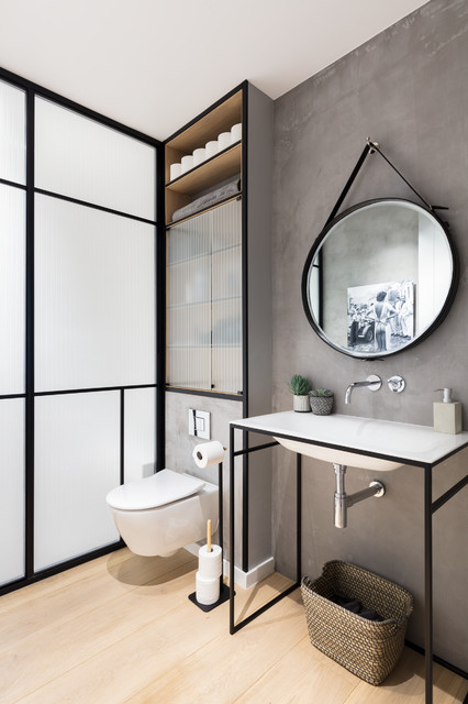 Black and milk interior design london · interior designers decorators modern new home in hampstead bathroom contemporary bathroom