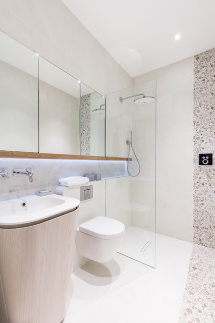 Modern new home in hampstead guest bathroom modern Bathroom design company london