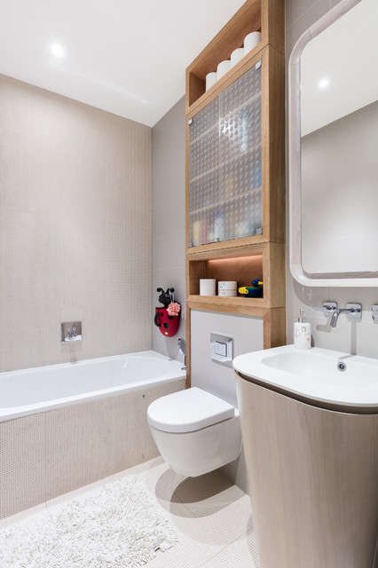 Black and milk interior design london · interior designers modern new home in hampstead kids bathroom contemporary bathroom