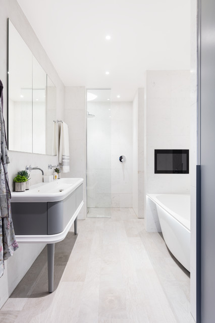 Modern New Home In Hampstead Master Bathroom