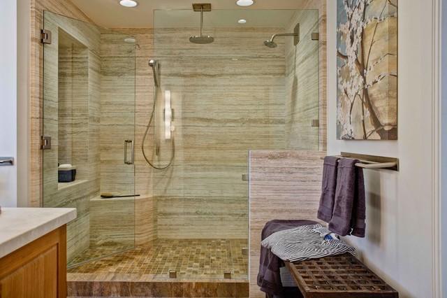 Modern organic bathroom transitional bathroom san for Organic bathroom designs