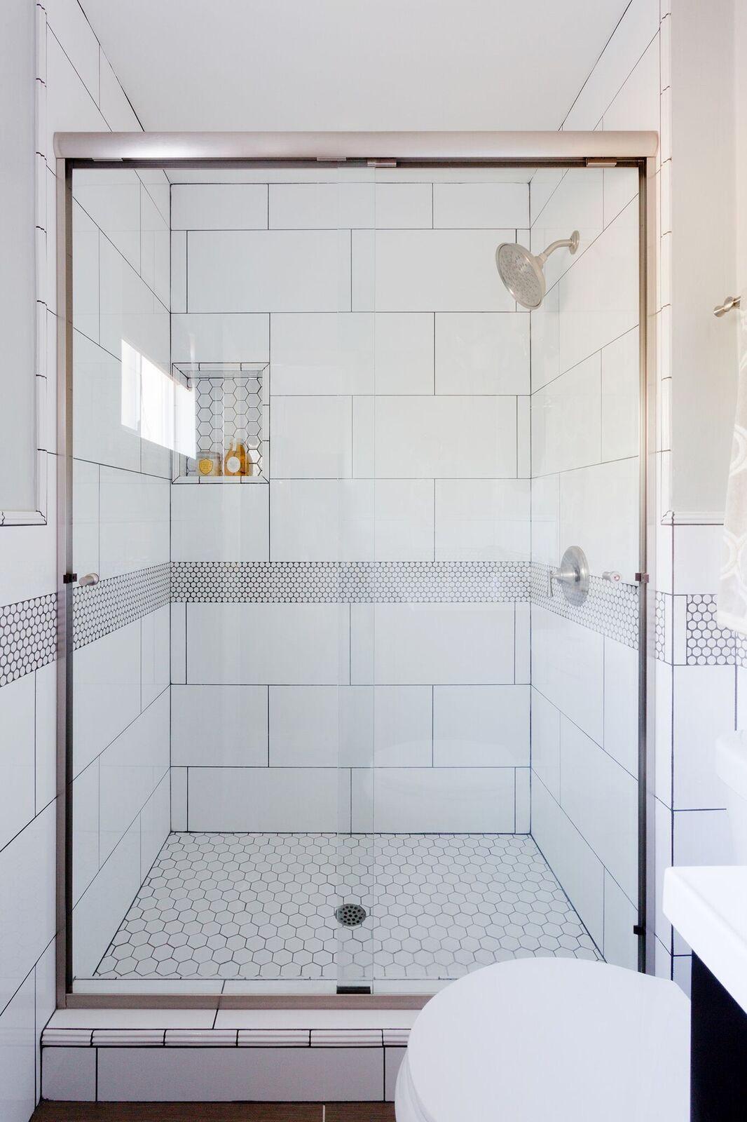 Modern Penny Tile Bathroom