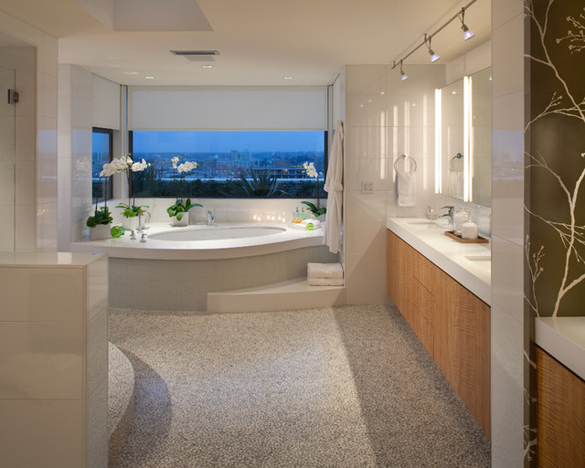 Modern penthouse contemporary bathroom san diego by dawson design group - Bathroom design san diego ...