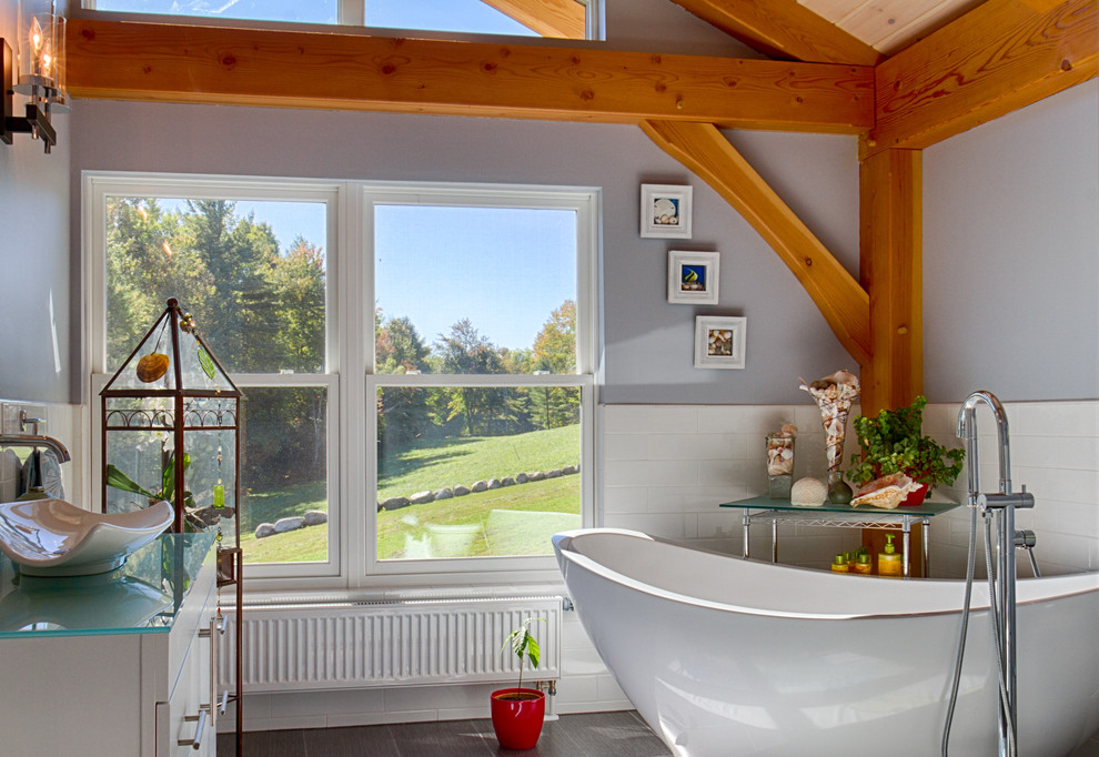 Modern Post And Beam Bathroom Modern Bathroom Burlington By Davis Frame Company